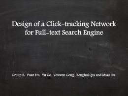 Design of a Click-tracking Network for Full