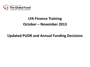 - The Global Fund