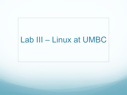 CMSC 201 - Linux at