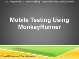 MonkeyRunner Testing Tool for Android Applications