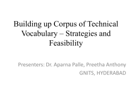 Building up corpus of technical vocabulary