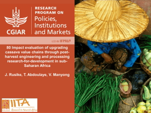 IITA - Value Chains Knowledge Clearinghouse