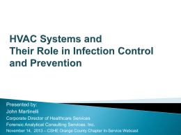 HVAC Systems and Their Role in Infection Control and