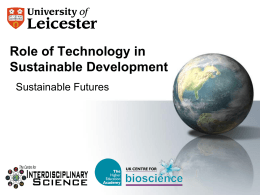Role of Technology in Sustainable Development