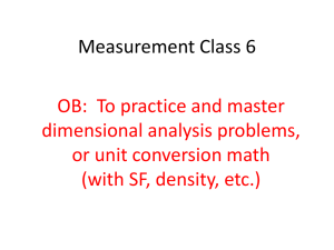Measurement Class 6