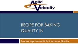 Recipe for Baking Quality in