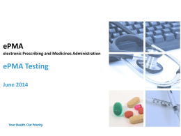 ePMA Testing - ePrescribing Toolkit