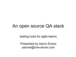 An open source QA stack