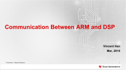 Run ARM & DSP Communication Example