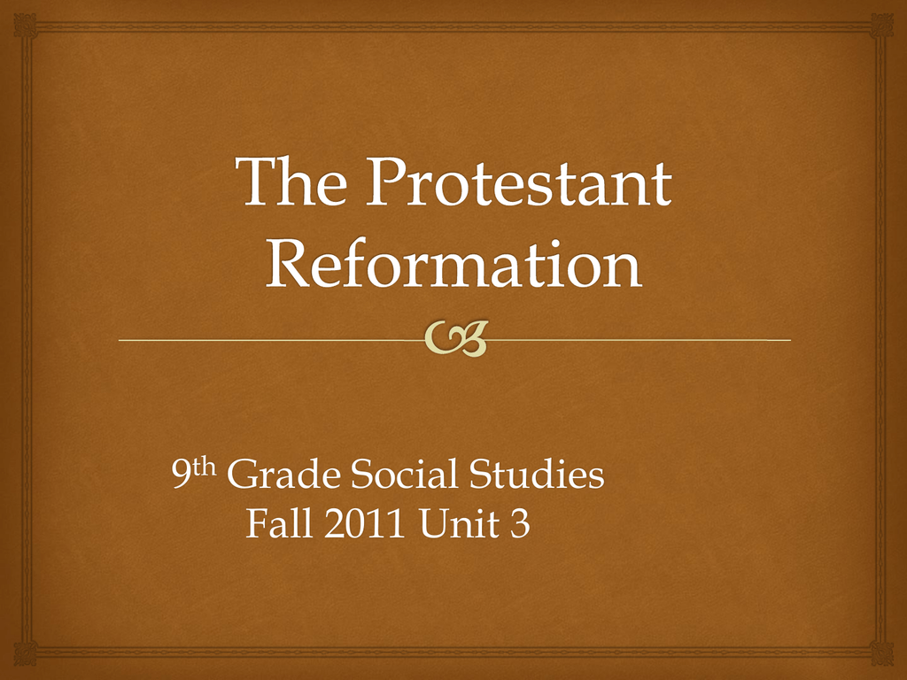 The protestant reformation ccuart Images