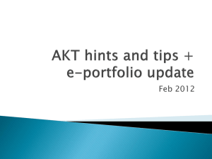 Faisal*s AKT hints and tips