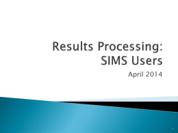Processing Results 2014 Training - Student Experience & Academic