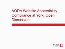 PowerPoint  file - AODA Web Accessibility at York