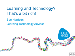 Learning and Technology?