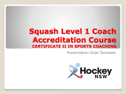 5. Hockey L1 Coach Accreditation Course