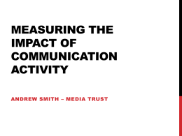 Measuring the impact of communication activity