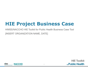 HIE Project Business Case Template