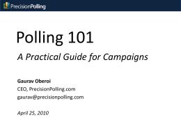 Polling 101 - Precision Polling
