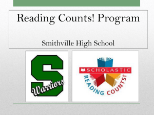 Reading Counts! - SMITHVILLE School District