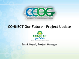 CONNECT Project Update 9-10-2014