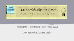 Developing CCLS math videos to help students do