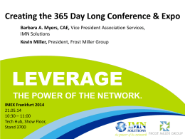 IMEX 2014: Creating the 365 Day Long Conference