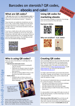 QR codes and ebooks poster - Cambridge University Library