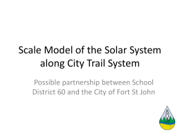 Scale Model of the Solar System along City Trail System