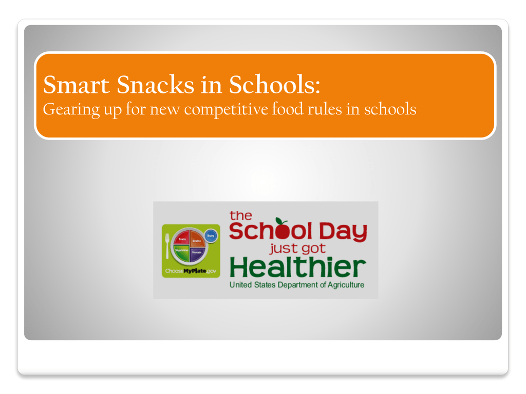 Smart Snacks Resources - Gwinnett County Public Schools