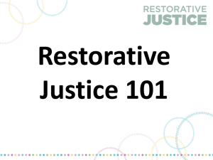 RestorativeJustice Floor Meeting Presentation