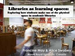 Libraries as learning spaces: Exploring how