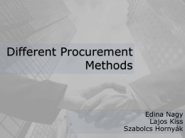Different Procurement Methods