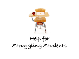 Help for Struggling Students - Laurel Park Elementary School