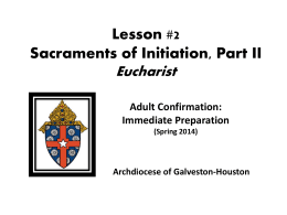 """Eucharist""? - Archdiocese of Galveston"