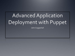 Advanced Application Deployment with Puppet