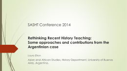 Re-thinking History teaching – Argentina.