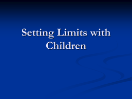 Setting Limits with Children