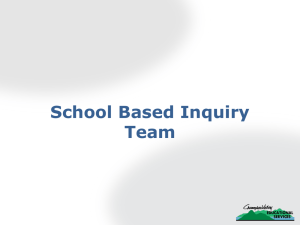 School-Based Inquiry Teams PowerPoint #1