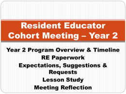 PowerPoint for RE Meeting - Year 2