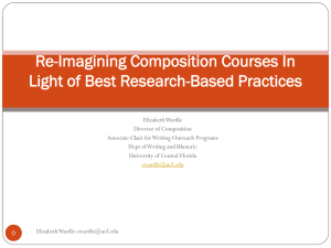 Re-Imagining Composition Courses In Light of Best Research