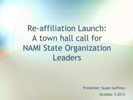 Re-affiliation Launch