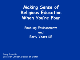 Making Sense of Religious Education When You`re Four by Penny