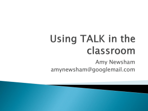 Using TALK in the classroom
