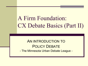 CX Debate Intro Part II - Minnesota Urban Debate League