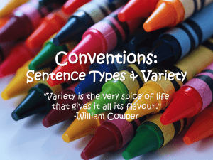 Sentence Types and Variety