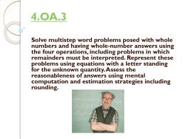 4.OA.3 - IL K-5 Math Teach & Talk