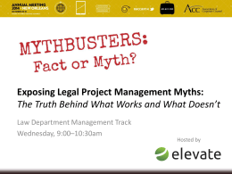 Exposing Legal Project Management Myths