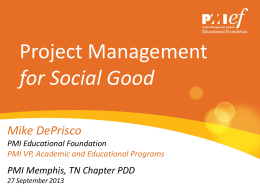 PMI Education Forum - Project Management Institute