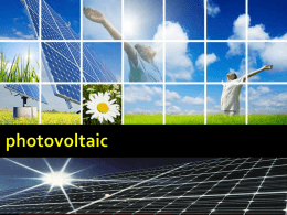 Concentrated Photovoltaic
