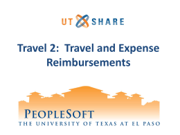 Creating a Travel Expense Report
